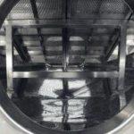 Particolare della griglia del Criotank, serbatoio specifico per criomacerazioni